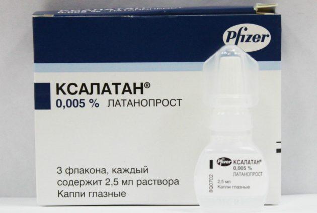 Капли Ксалатан при глаукоме