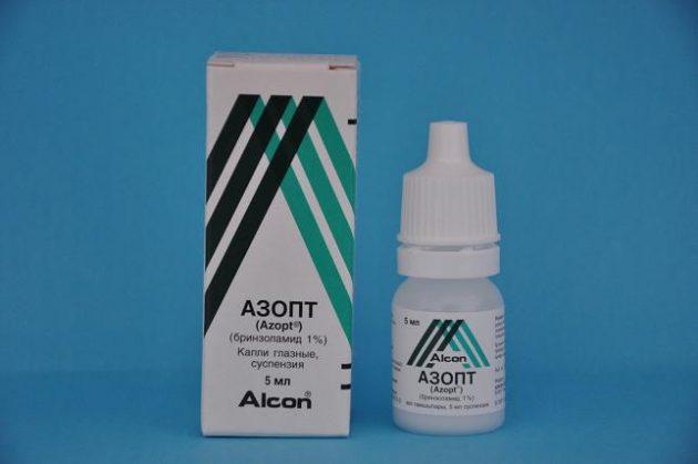 Азопт для лечения приступа глаукомы