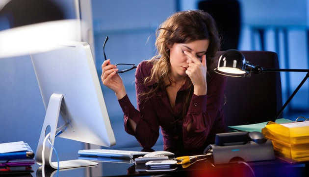 Капли при работе за компьютером