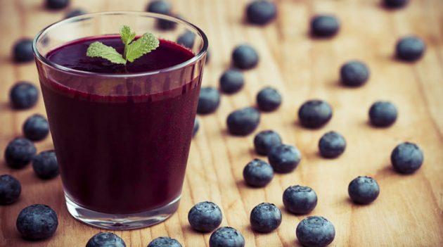 Сок из черники полезен для зрения