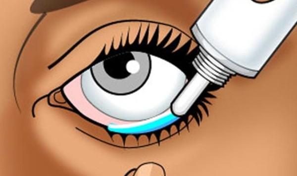 закладывание гидрокортизоновой глазной мази